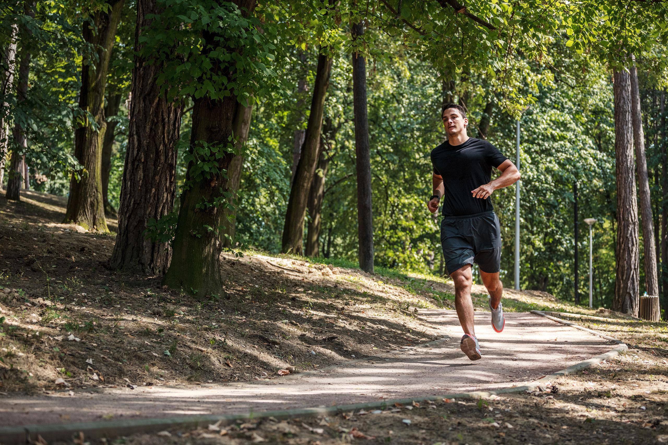 The Fenley Man Running